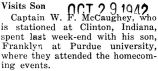 William McCaughey Jr. visited his son at Purdue University