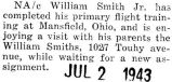 William Smith was home on furlough after completing primary flight training at Mansfield, Ohio