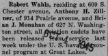 Wahls was released from the Navy at Great Lakes