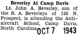 Beverley at Camp Davis