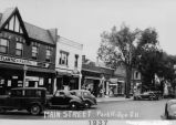 Photograph of Main Street in Park Ridge, Illinois taken in 1937