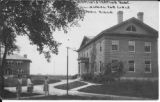 Illinois Industrial School for Girls, early image of Administration Building (Straut School) to right, School Building...