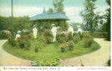 Red Roses and Peonies at Glen Oak Park, Peoria, Ill. Pub. by C. R. Gibson, Peoria, Ill.