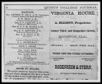 Quincy College Journal Faculty Listing 1865-1872