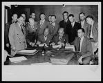 Signing the Contract of the Joint City-County Building