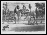 Artist Sketch of Governor John Wood's Octagonal House