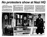 No protesters show at Nazi HQ