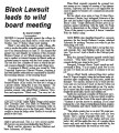 Black Lawsuit leads to wild board meeting