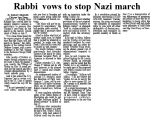 Rabbi vows to stop Nazi march