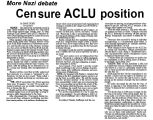 More Nazi debate : Censure ACLU position