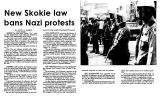 New Skokie law bans Nazi protests