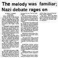 The melody was familiar- Nazi debate rages on