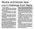 Skokie ordinances face court challenge from Nazis