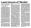 Learn lesson of 'Skokie'