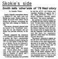 Skokie's side : Smith tells 'other' side of '78 Nazi story