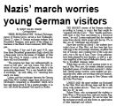 Nazis' march worries young German visitors