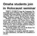 Omaha students join in Holocaust seminar