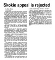 Skokie appeal is rejected
