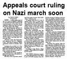 Appeals court ruling on Nazi march soon