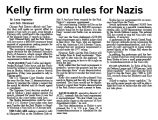 Kelly firm on rules for Nazis