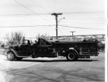 Skokie Fire Department 1955 Ward LaFrance Ladder Truck Photograph