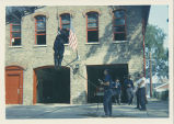 Skokie Fire Department Rappelling Drill Photograph