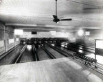 Niles Center Recreation Rooms Interior View of Bowling Lanes Photograph, 1928