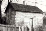 Historic Log Cabin Front Entrance Photograph, 1984