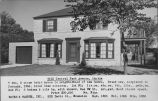 Real estate listing postcard for two story Colonial brick house at 9515 Central Park Ave.