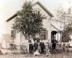 Nickolas Dahm Family and Homestead Photograph, 1903