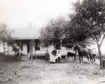 John and Margaret Jennetten Family and Homestead Photograph, circa 1909