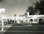 Sinclair Gas Station with Flags Photograph, circa 1960