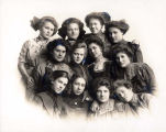 Junior Maidens Club of Niles Center Group Portrait, circa 1910