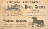 Ludwig Luebbers Blacksmith Advertisement Card, 1890s