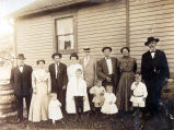 Anton and Gertrude Doetsch Family and Homestead Photograph, circa 1900