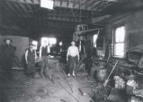 Schoenings Blacksmith Shop Interior Photograph, circa 1926