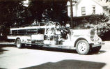 Niles Center Fire Department Peter Blameuser Truck Photograph, 1950s