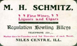 M. H. Schmitz Business Card, early 1900s