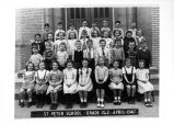 St. Peter Catholic School 1947 1st & 2nd Grades Class Photograph