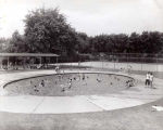 Skokie Park District  Oakton Park Wading Pool Photograph, 1956