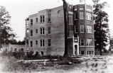 Three-Flat Building Under Construction Photograph, 1926
