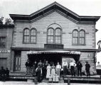 Cheap Store Building with Family Photograph, circa 1896