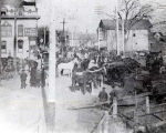 Lincoln Avenue (Main Street) Just North of Oakton Street Photograph, circa 1890