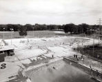 Skokie Park District Oakton Park Swimming Pools Photograph, 1956