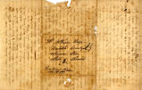 Hayes Letter 1838042201, Isaac Hayes to William Hayes