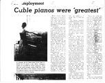 Cable pianos were 'greatest'