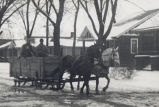 Misc. M-Z,  Sterling,  Illinois, Winter, Horse drawn sleigh
