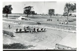 Mineral Springs, Sterling,  Illinois, Race track at Great Northwestern Fairgrounds, Airplane