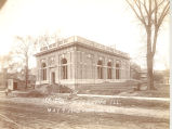 Post Office, Sterling, Illinois, 1904-1905 Building, Construction NW view