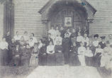 People-Groups, Sterling, Illinois, Mrs. Perry Wilcox, 2nd from left in 2nd row.  Women unidentified